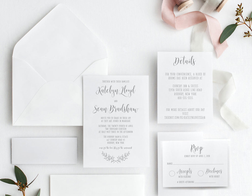 Rustic Elegance Wedding Invitation Suite