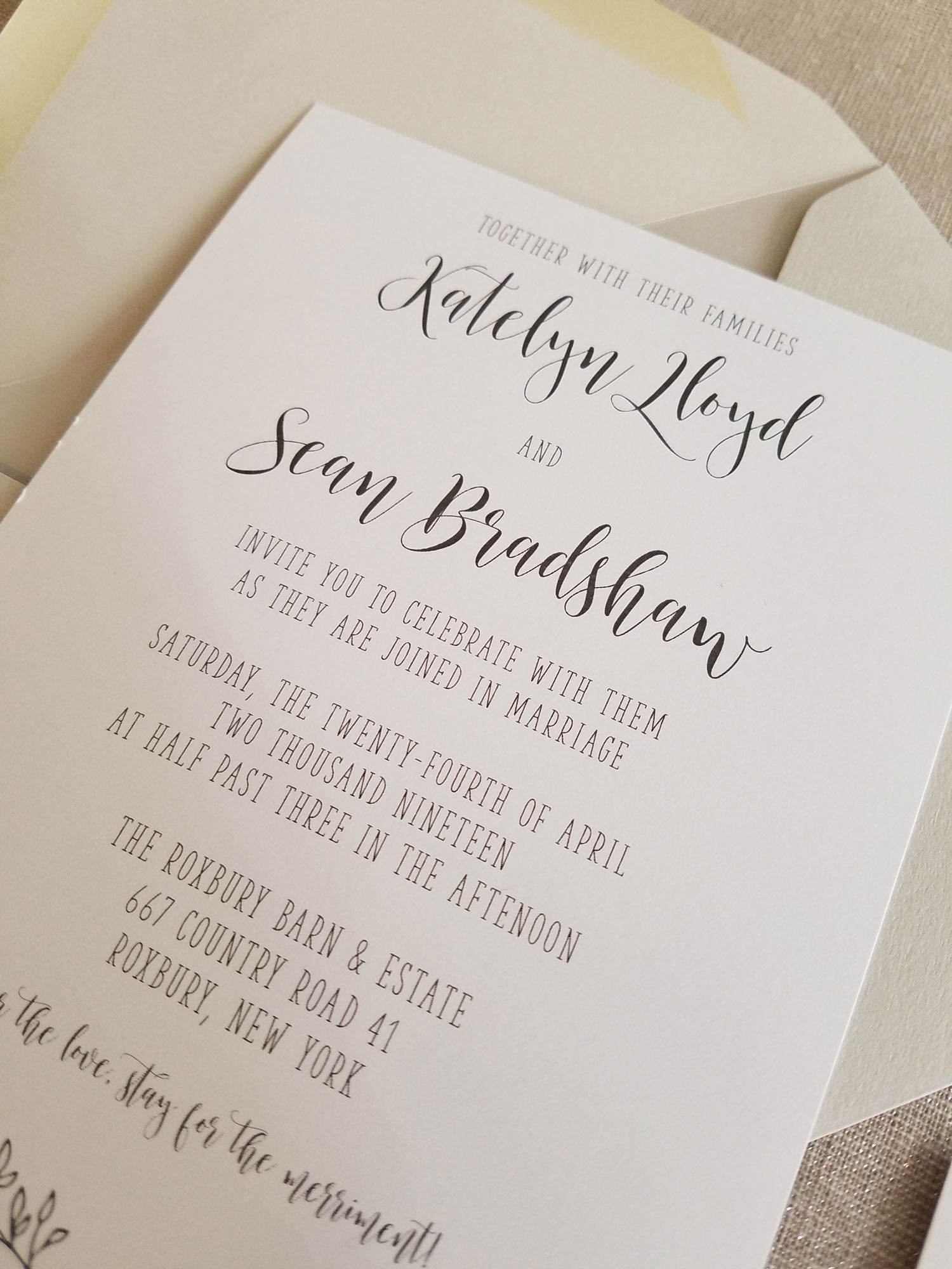 Rustic Elegance Grey and White Wedding Invitation Suite - Raspberry ...