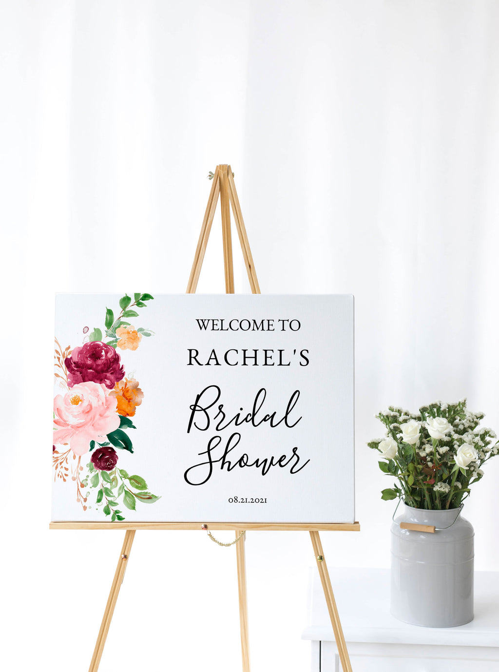 Saffron Bridal Shower Welcome Sign