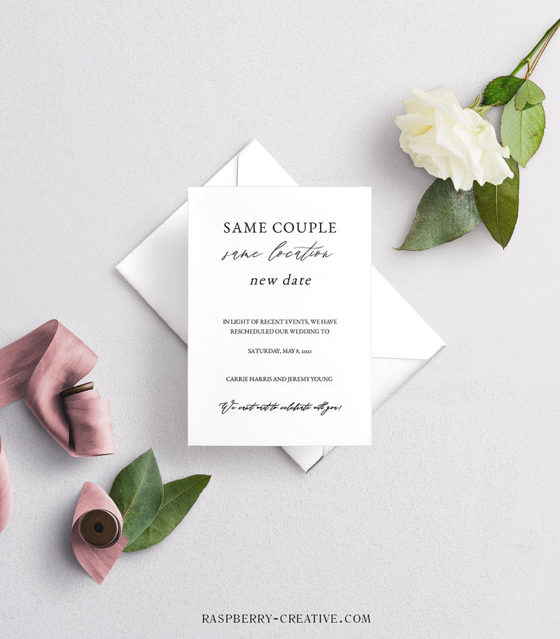 Same Couple Different Date Change the Date Cards