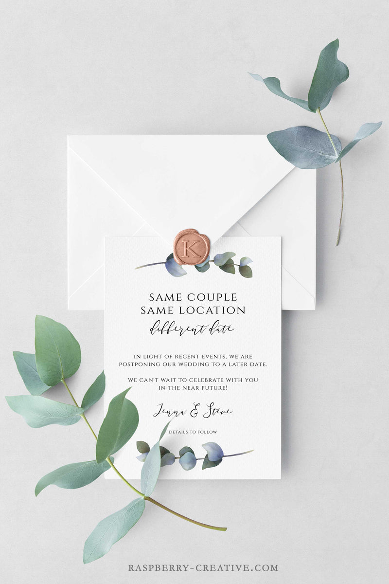 Eucalyptus Greenery Change the Date Cards