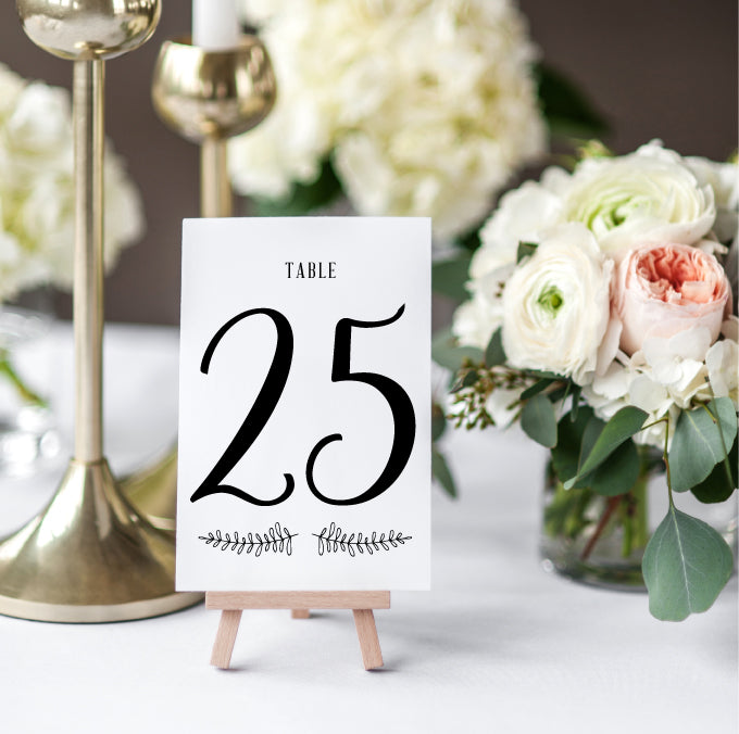 Simple Rustic Branch Table Numbers