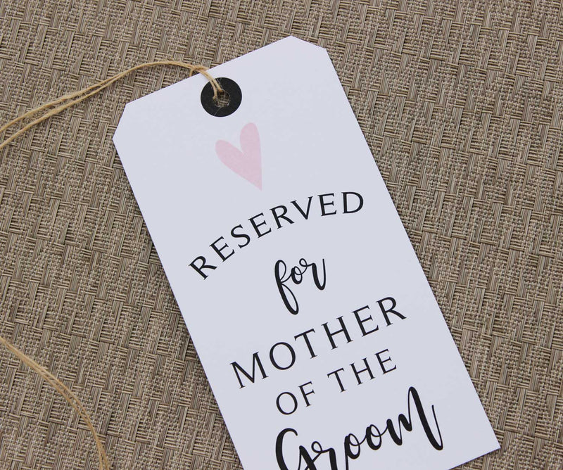 Simple Heart Reserved Seating Tags