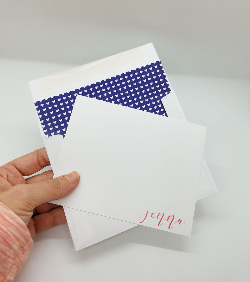 Simple Heart Note Card Set