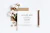 Simple Script Save the Date Card
