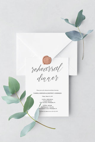 Simple Script Rehearsal Invitation