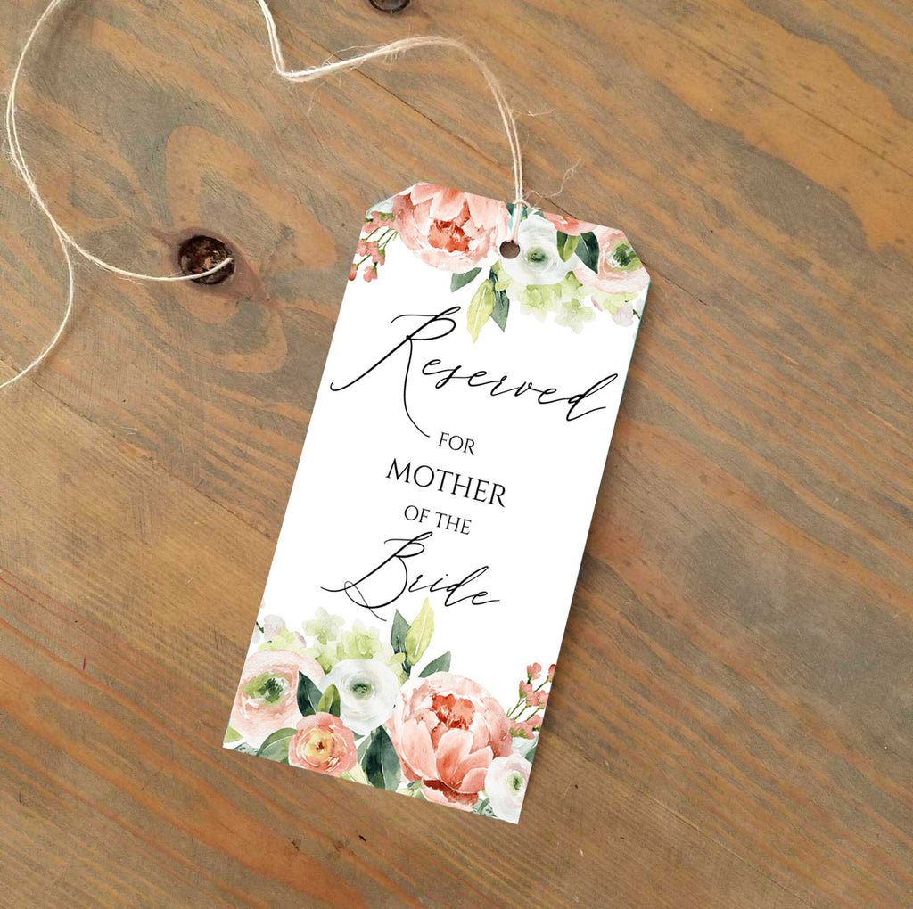 Spring Bouquet Reserved Seating Tags