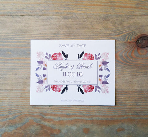 Stunning Botanicals Save the Date