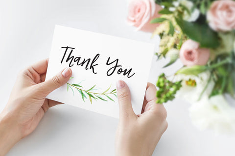 Tender Greenery Thank You Card