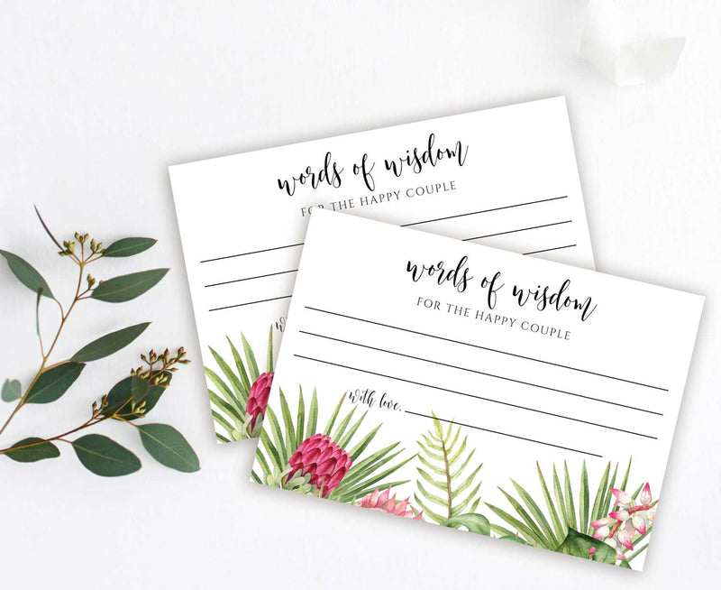 Tropical Advice or Words of Wisdom Card for Newlyweds, Graduate or Customize