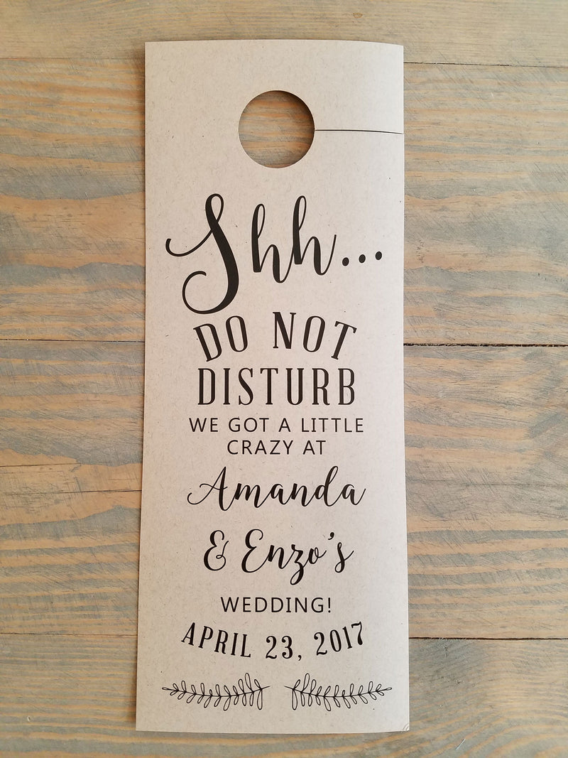 Rustic Branch Do Not Disturb Door Hanger