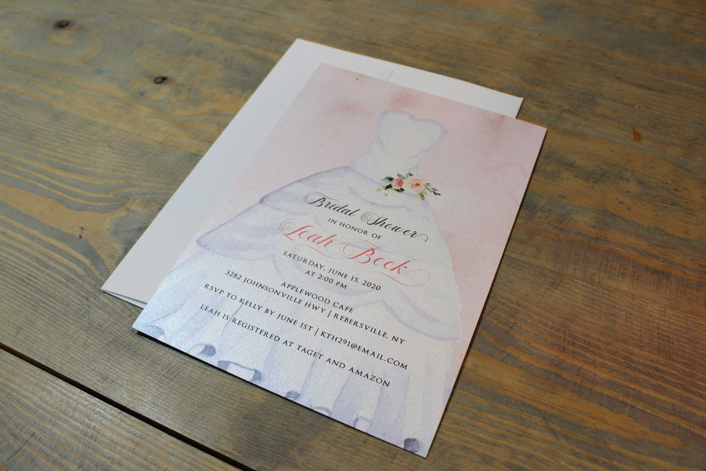 Wedding Dress Bridal Shower Invitation