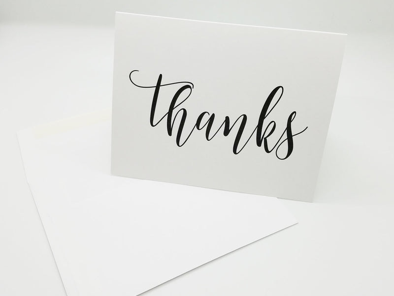 "White ""Thanks"" Note Card"