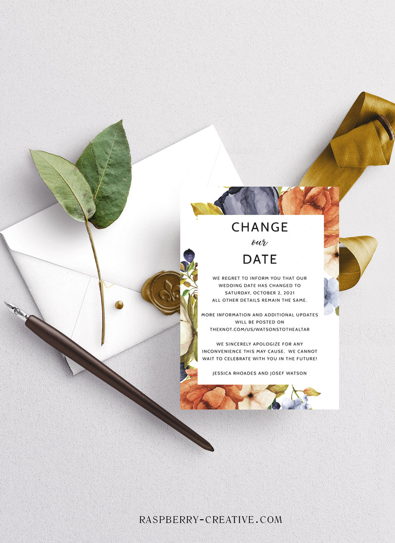 Eggplant and Pumpkin Change the Date Cards
