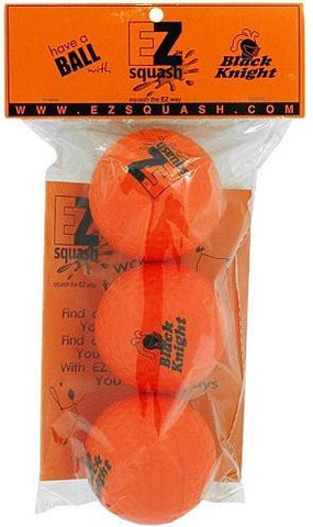 Black Knight Eze Bounce Squash Balls (3Pack)
