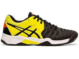 Asics Gel-Resolution 7 GS Boys (Black/Sour Yuzu)