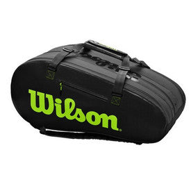 Wilson Super Tour 3 Compartment (Charcoal/Green)