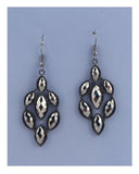 Faux stone drop earring