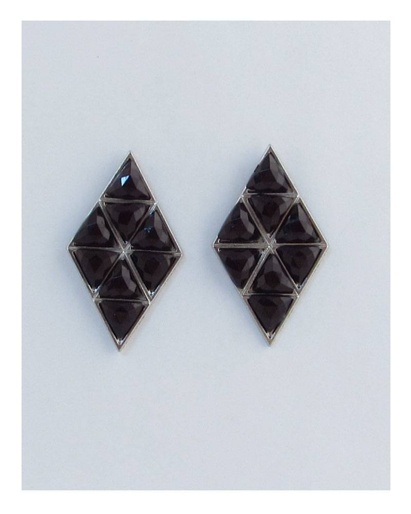 Geometric diamond shape earrings