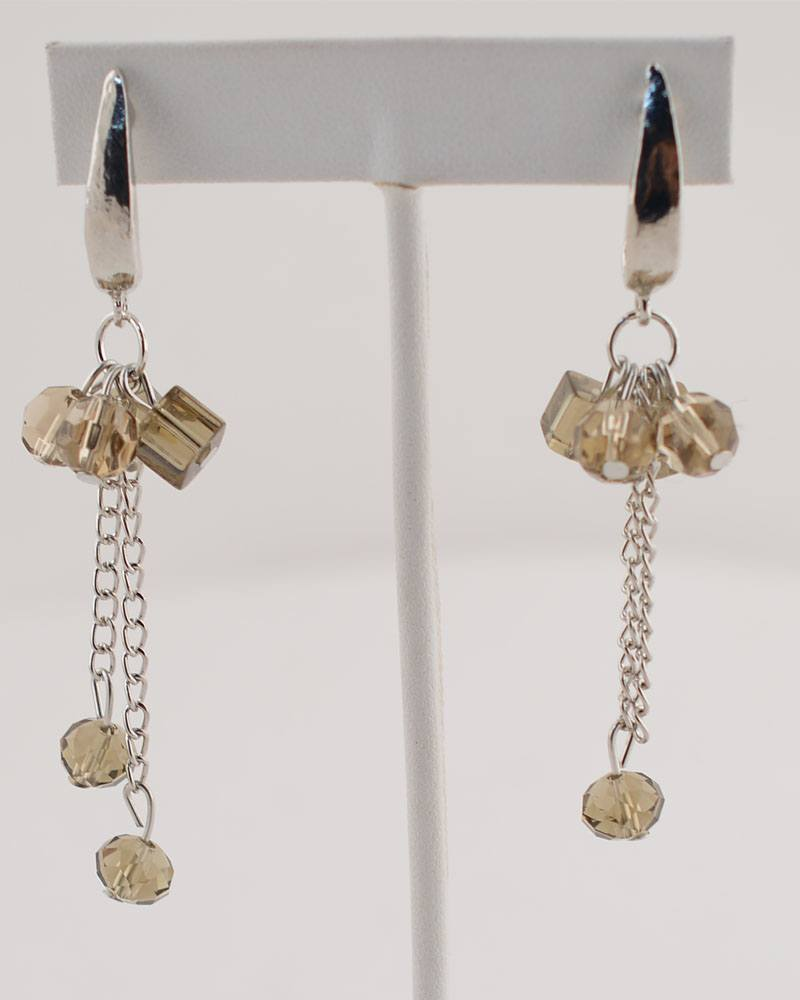 Falling Beads Chain Earrings