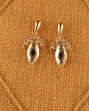 Crystal Tear Drop Accent Earrings