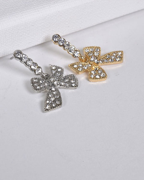 Bow Shaped Drop Earrings