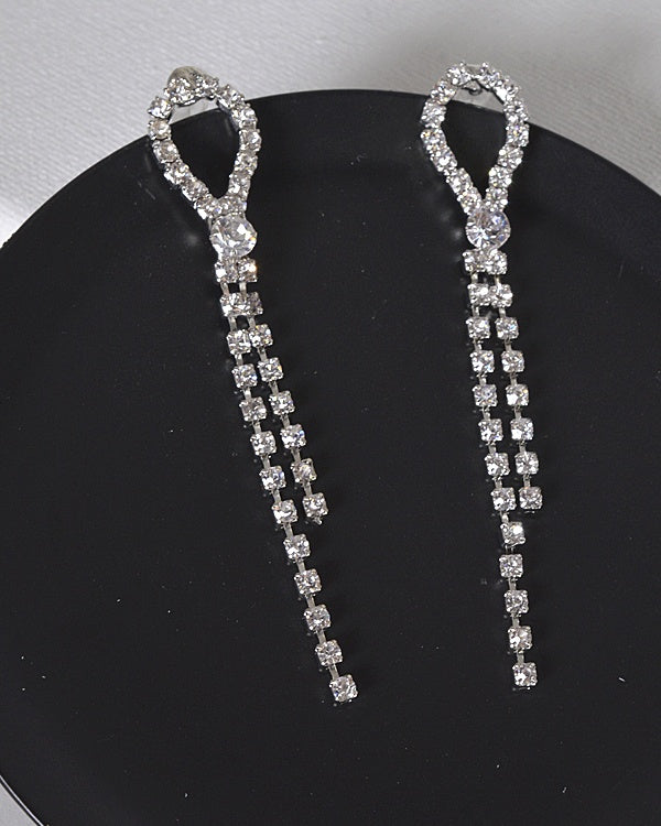Stone Studded Drop Earrings