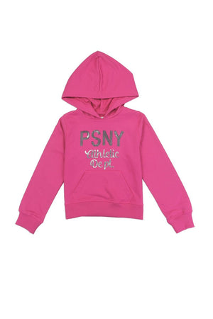 Girls aéropostale 4-6x hooded  french terry sweatshirt with sequin logo