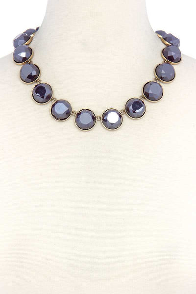 Circle Bead Short Necklace