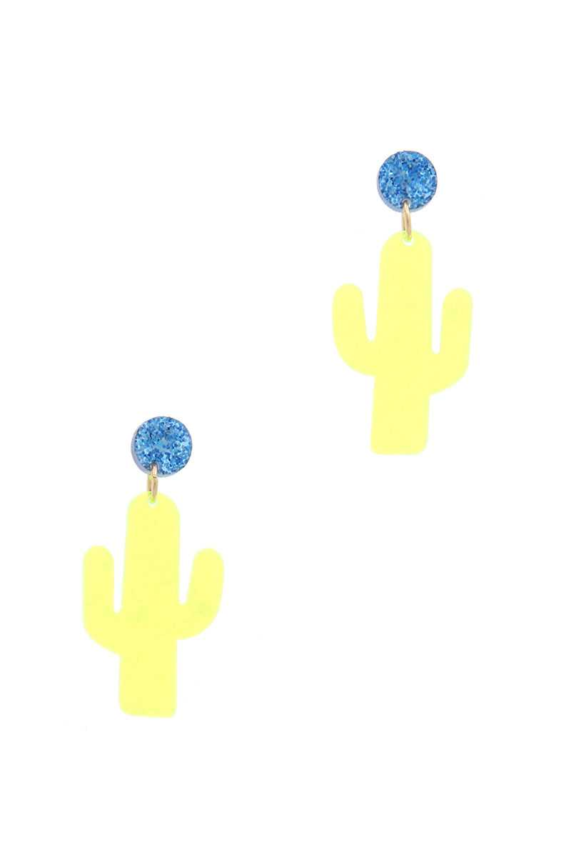Cactus Post Drop Earring