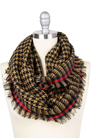 Hounds Tooth Infinity Scarf