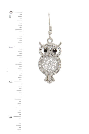 Owl Drop Earring