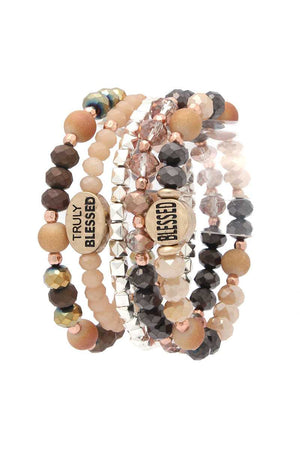 Blessed Beaded Stretch Bracelet