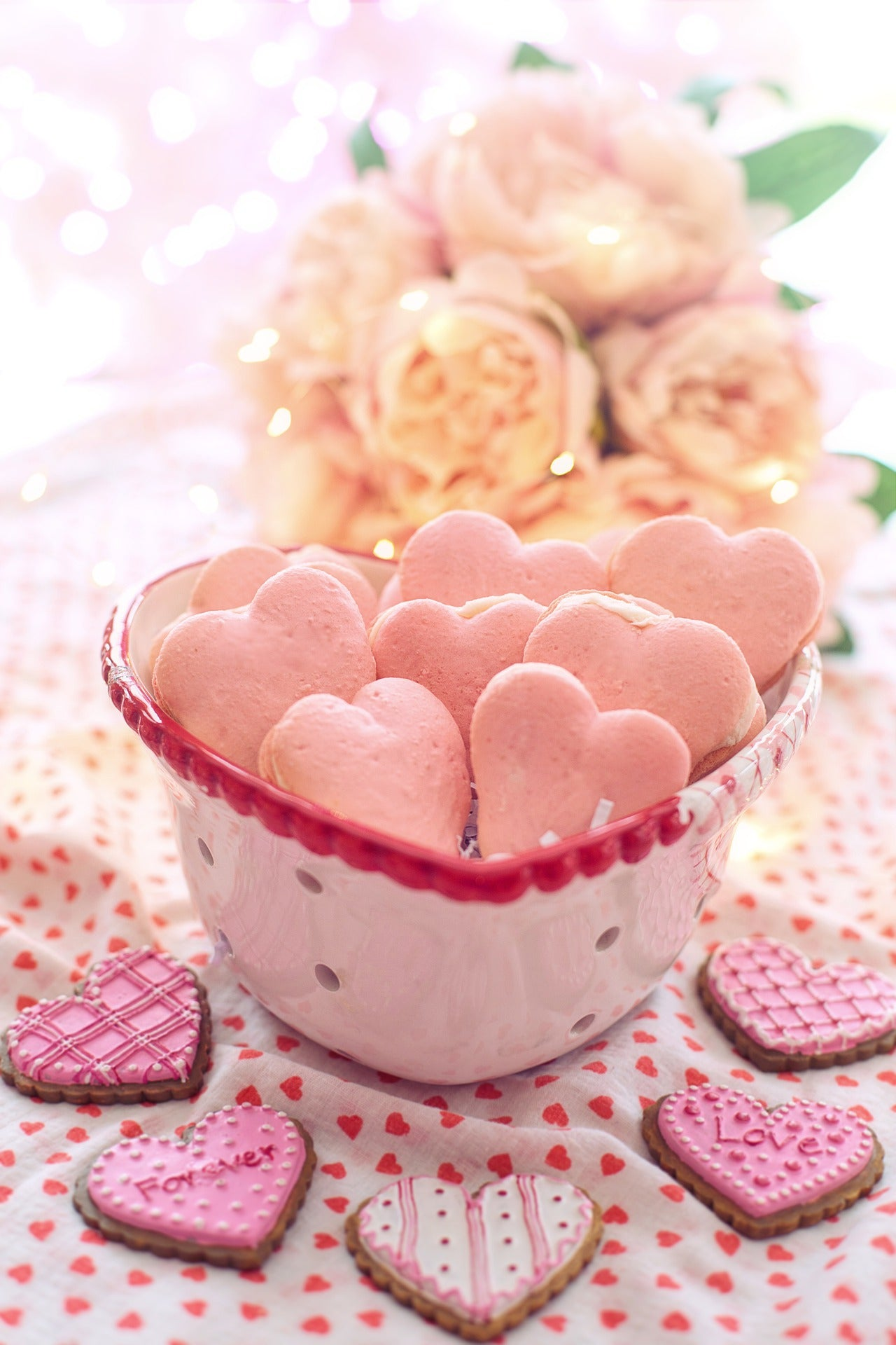 Valentines Heart Shape Macaroons