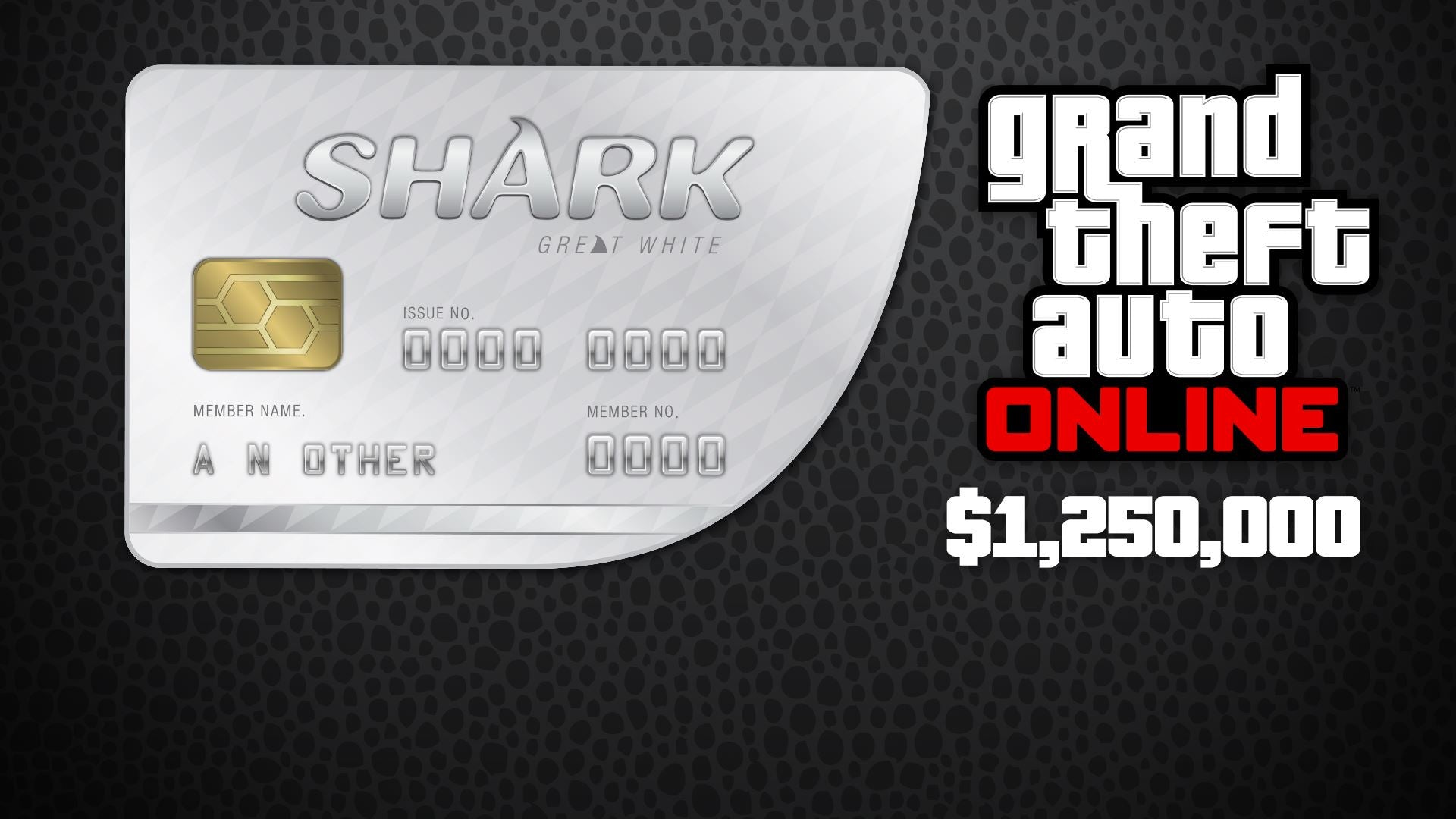 Grand Theft Auto Online - $1,250,000 Great White Shark Cash Card XBOX One CD Key - Swipe Gaming