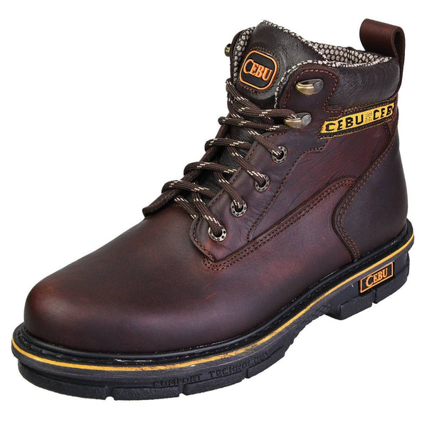 "Men's Work Boots - Versatile - Brown Work Boots - Cebu - 6"" Work Boots - Brown 6in Work Boots"