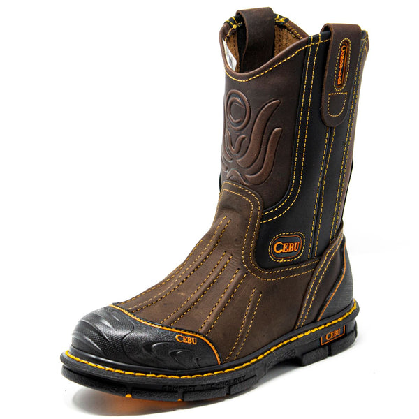 "Men's BrdShark Soft Toe 10"" Pull On Work Boots"