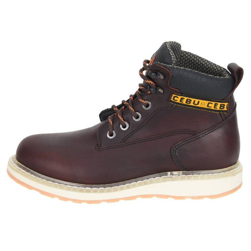 "Men's Work Boots - Wedge Sole - Shedron Work Boots - Cebu - 6"" Work Boots - Shedron 6in Work Boots"