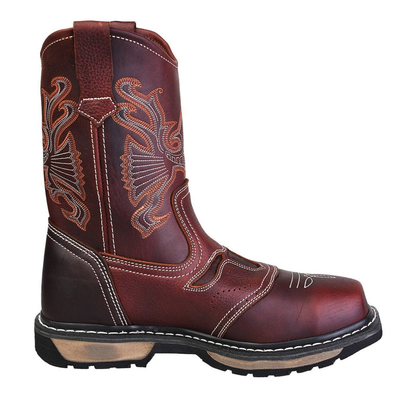 Men's Work Boots - Composite Toe - Shedron Work Boots - Cebu - Pull On Work Boots - Shedron Wellington Work Boots