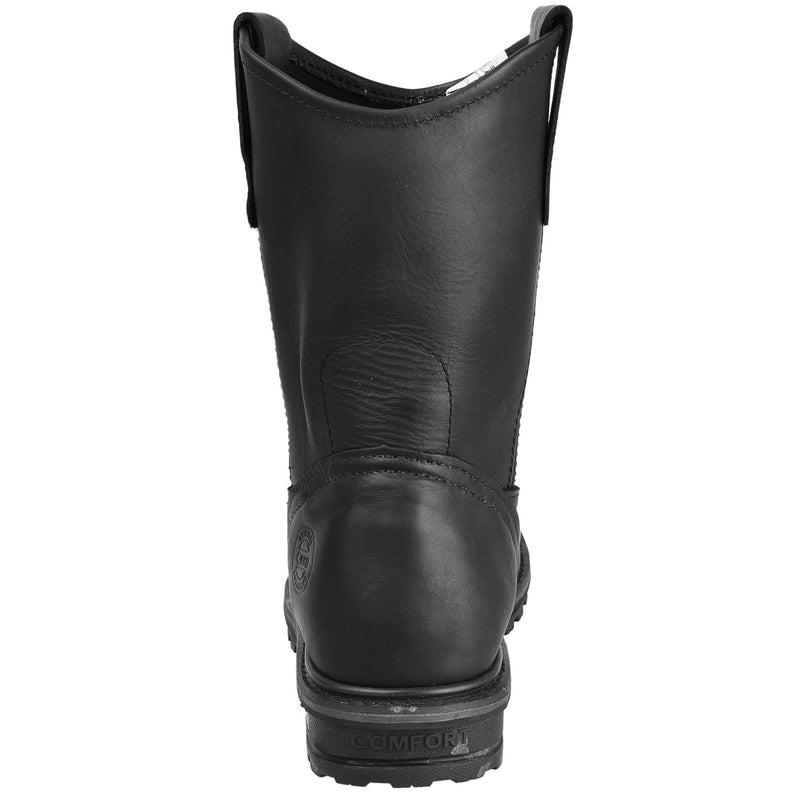 Men's Work Boots - Heavy Duty - Black Work Boots - Cebu - Pull On Work Boots - Black Wellington Work Boots