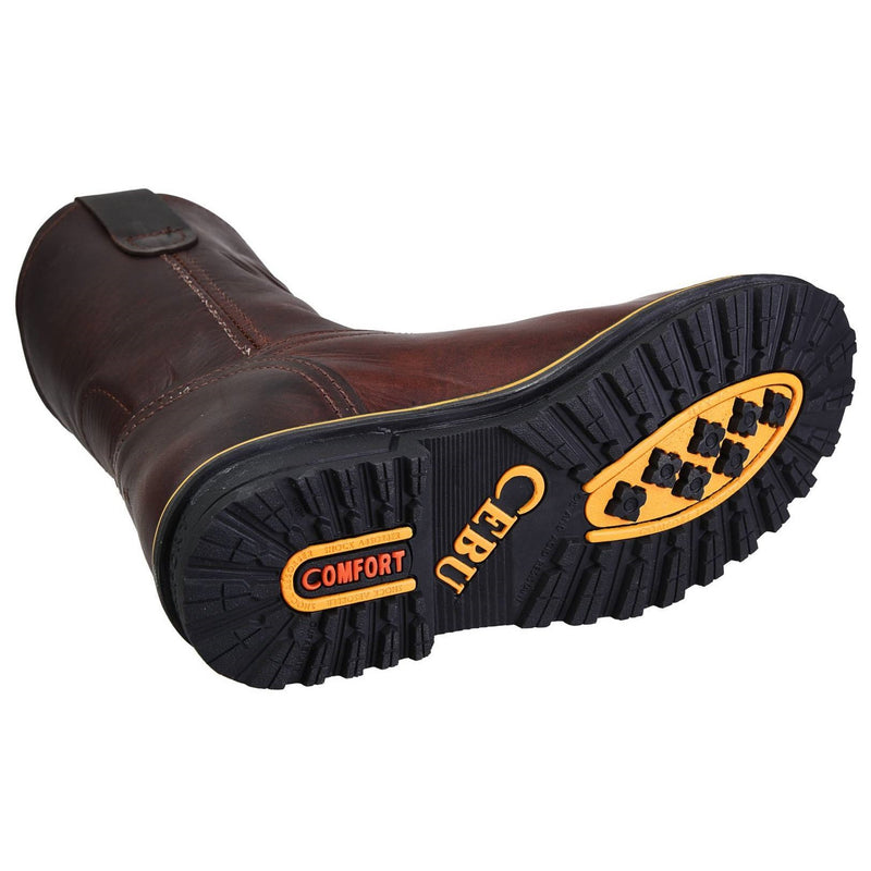 Men's Work Boots - Heavy Duty - Shedron Work Boots - Cebu - Pull On Work Boots - Shedron Wellington Work Boots