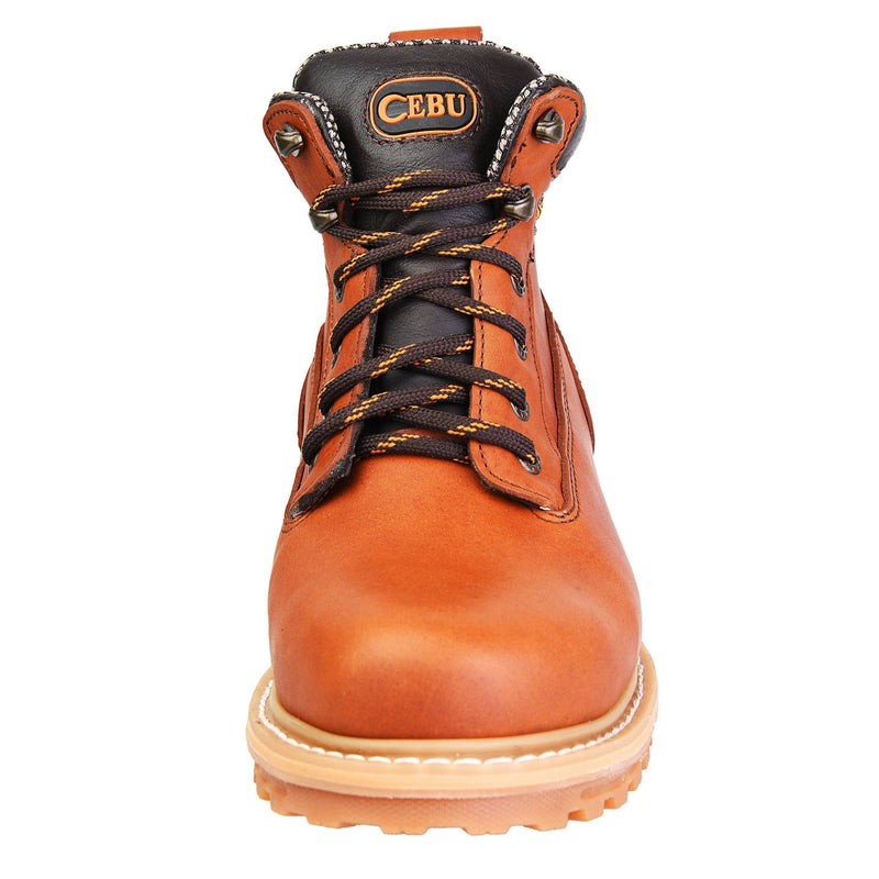 "Men's Work Boots - Heavy Duty - Tan Work Boots - Cebu - 6"" Work Boots - Honey 6in Work Boots"
