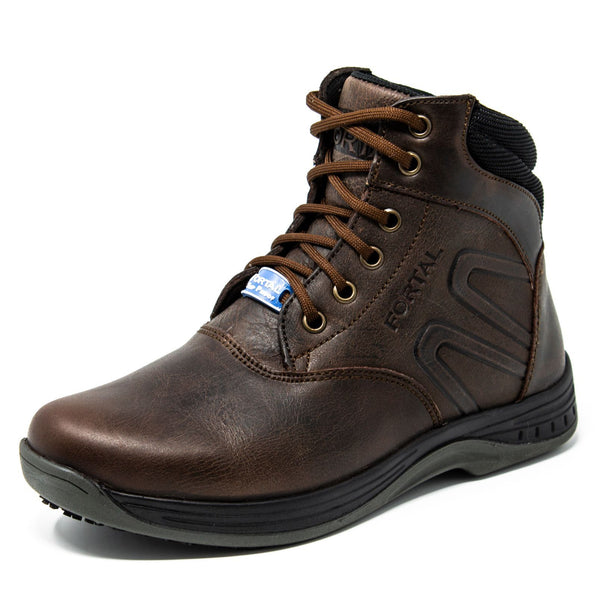 "Women's Work Boots - Non Slip - Brown Work Boots - Fortal - 6"" Work Boots - Brown 6in Work Boots"