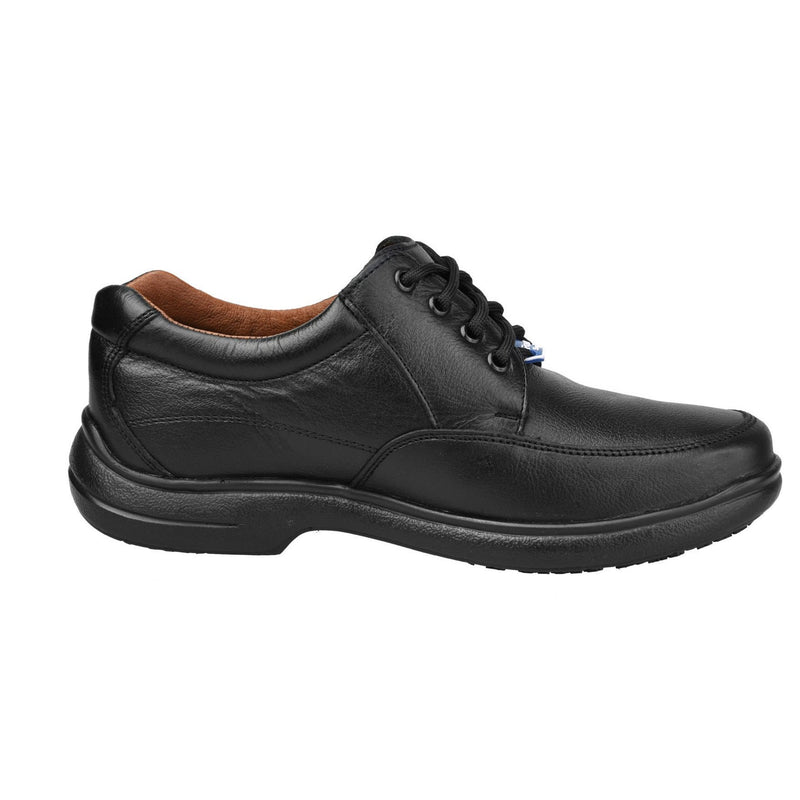 Men's Work Shoes - Non Slip - Black Work Shoes - Fortal - Work Shoes - Black Lace Up Work Shoes