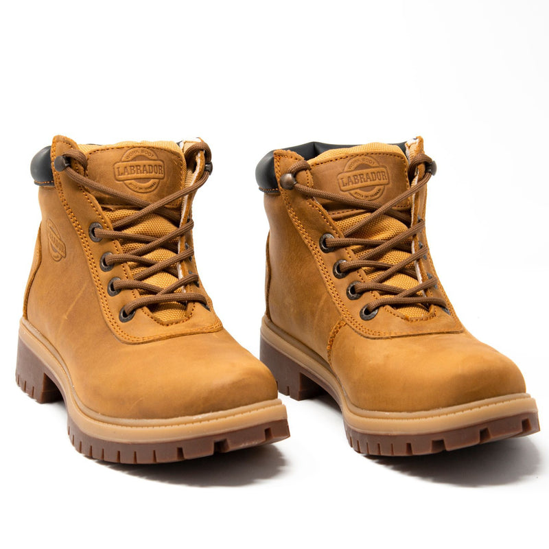"Women's Work Boots - Heavy Duty - Tan Work Boots - Labrador - 6"" Work Boots - Honey 6in Work Boots"