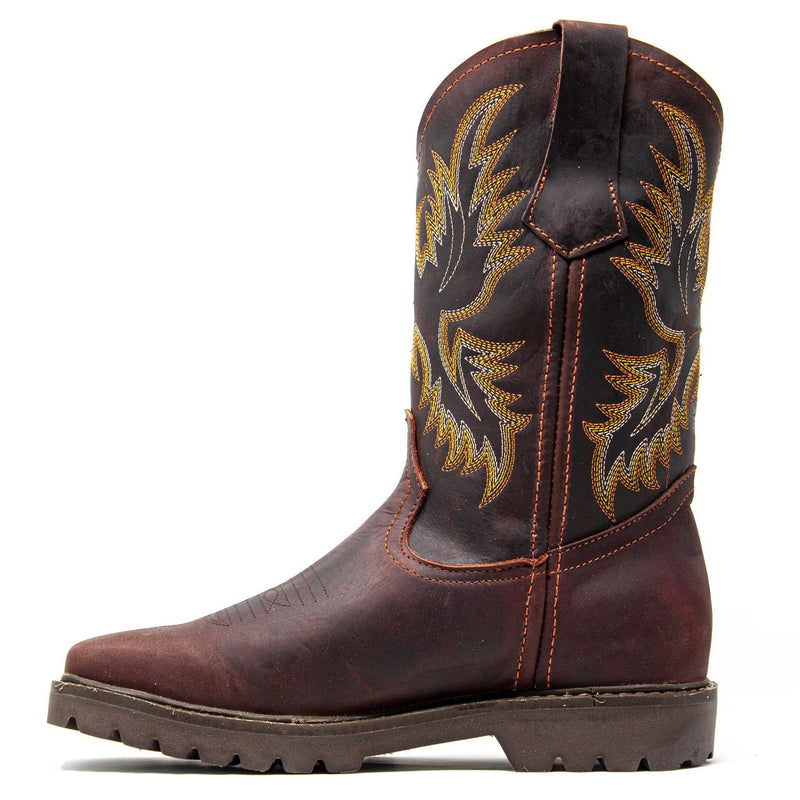 Men's Work Boots - Square Toe & Lightweight - Shedron Work Boots - Labrador - Pull On Work Boots - Shedron Wellington Work Boots