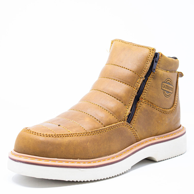 "Men's Work Shoes - Lightweight & Wedge Sole - Tan Work Shoes - Labrador - 6"" Work Boots - Honey 6in Work Boots"
