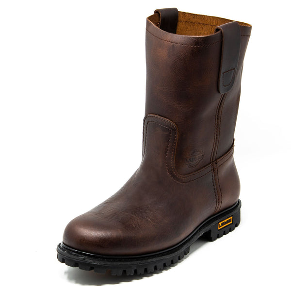 Men's Work Boots - Heavy Duty - Brown Work Boots - Labrador - Pull On Work Boots - Chocolate Wellington Work Boots