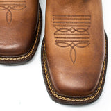 Men's Cowboy Boots - Lightweight & Flexible - Brown Cowboy Boots - Pradera - Cowboy Boots - Brown Western Boots