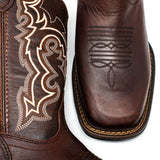 Men's Cowboy Boots - Lightweight & Flexible - Brown Cowboy Boots - Pradera - Cowboy Boots - Chocolate Western Boots